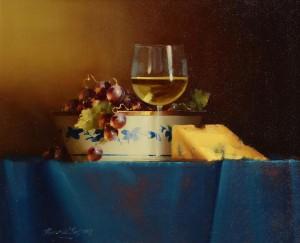 David Ffrench Le Roy (b.1971) Chardonnay and Stilton Cheese  (700-900.