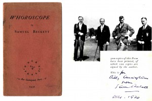 Samuel Beckett, Whoroscope (poem) published in 1930 together with a photograph sold for 4,200.
