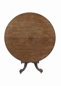 AN EARLY VICTORIAN ROSEWOOD BREAKFAST TABLE of circular form (300-500)