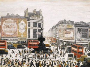 LAURENCE STEPHEN LOWRY, R.A. PICCADILLY CIRCUS, LONDON signed and dated 1960 (£4-6 million).