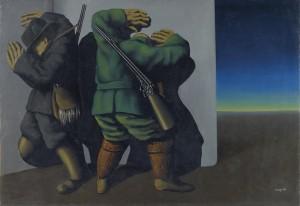 Renè Magritte Les chasseurs au bord de la nuit (The hunters at the edge of night) 1928 (£6-9 million). Courtesy Christie's Images Ltd., 2014.
