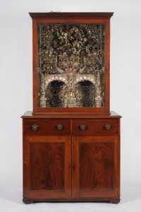 This historic cabinet decorated with shells was acquired by the Waterford Museum of Treasures.