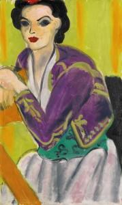 HENRI MATISSE 1869 - 1954 BOLÉRO VIOLET signed Henri Matisse and dated 37 (£6.5-8.5 million)