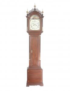 Delaney Antique Clocks. Tall Clock by William Cummens. Roxbury, Massachusetts, c. 1795. 7 ft 9 ½ in. tall.