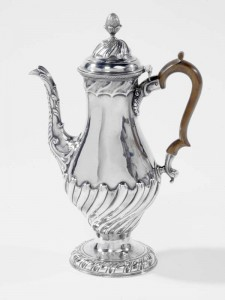 A Cork coffee pot by Michael McDermott c1780.