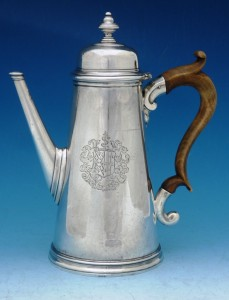An early George II coffee pot by William Williamson,  1729.