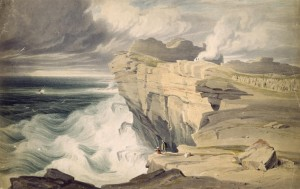 George Petrie (1760-1866) Dún Aonghasa, Inishmore, Aran Islands, c.1827 Photo © National Gallery of Ireland
