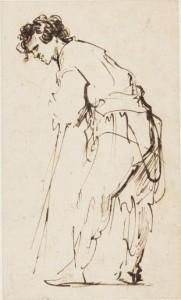 Rembrandt Harmensz. van Rijn (Leiden 1606-1669 Amsterdam)  A young man leaning on a stick  (£250,000-350,000).