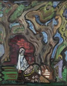 Evie Hone HRHA (1894-1955) The Holy Family (3,000-5,000)