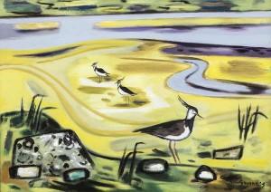 Norah McGuinness HRHA (1901-1980) ''Lapwings at Balbriggan' (8,000-12,000)