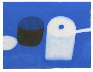William Scott RA (1913-1989) Blue Gouache (15,000-20,000)