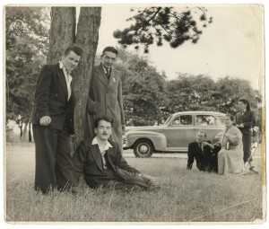 A family photograph with Christy Brown.