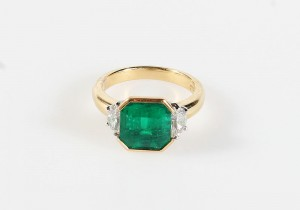 A 3.83 carat Colombian emerald ring (20,000-22,000).