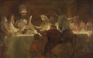 Rembrandt - The Conspiracy of the Batavians Under Claudius Civilis.