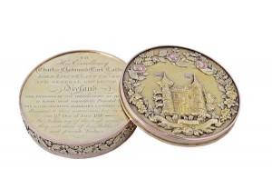 A George III Irish freedom box from 1816 made 8,000.