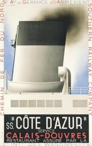A. M. Cassandre (1901-1968),  COTE D'AZUR, 1931  (£10,000-15,000).  Courtesy, Christie's Images Ltd., 2014