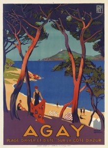 Roger Broders (1883-1953)  AGAY lithograph in colours, c.1930 (£6,000-8,000).