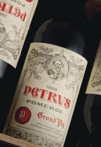 FROM THE ONLINE SALE: 12 bottles of Pétrus 1988 estimate: £12,000 – 15,000 Courtesy Christie's Images Ltd., 2014.
