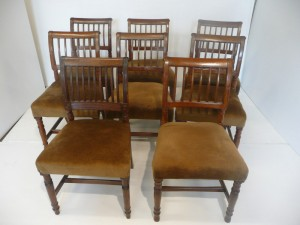 A set of Cork six bar chairs at Lynes and Lynes.