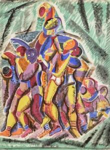 Basil Ivan Rakoczi (1908-1979) The Game  (1,500-2,500).