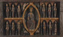 Polychrome wood panel Christ in Majesty (4,000-6,000)