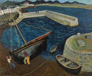 GERARD DILLON, R.H.A., R.U.A. 1916-1971 CLEANING THE BOAT (ROUNDSTONE) (£30,000-50,000).