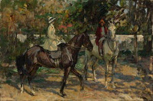 SIR JOHN LAVERY, R.A., R.H.A., R.S.A. 1856-1941 THE MORNING RIDE (£100,000-150,000).