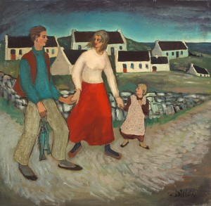 Gerard Dillon (1916-1971) HOME WITH THE CATCH
