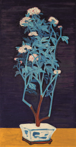 Potted Chrysanthemums by Sanyu.