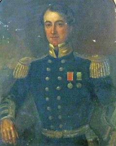 A portrait of Capt. Richard Roberts, Cork, in Naval uniform at Fonsie Mealy in Castlecomer on May 20.