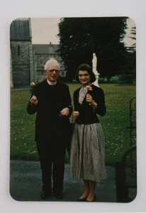 With Fr. Leonard at All Hallows in Dublin in 1950.