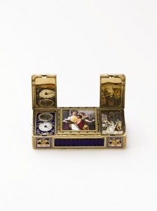 This 19th century gold and enamel automaton snuff box sold for US$802,408.