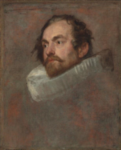 The portrait study by van Dyck.