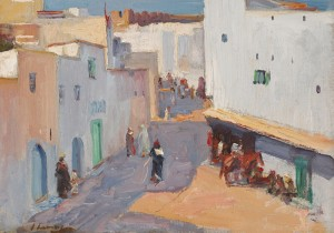 Sir John Lavery RA RSA RHA (1856-1941) A street in Tangier (20,000-30,000)