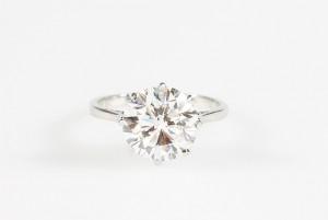 A diamond solitaire ring, brilliant cut (45,000-55,000)