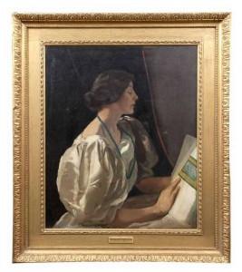 SIR GERALD FESTUS KELLY RHA (1879-1972) Portrait of a Lady Seated Oil (3,000-5,000)