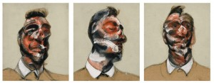 Francis Bacon Three Studies for Portrait of George Dyer (on Light Ground)