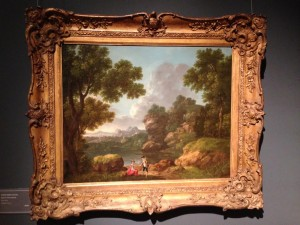 A classic landscape by the Irish artist George Barret (1728-1784) at James Harvey. It is priced at £12,000.