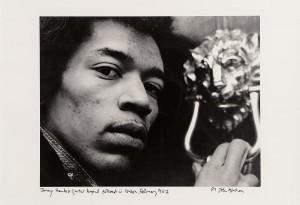 Jimmy Hendrix photographed in London in 1967 by John Minihane.