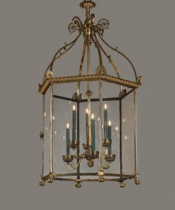 An exceptionally large and antique Irish lantern at Apter-Fredericks priced at £150,000.