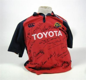 The signed Munster team jersey from 1978