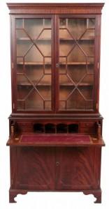 A mahogany secretaire bookcase (300-500)
