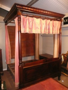 A Irish four poster bed