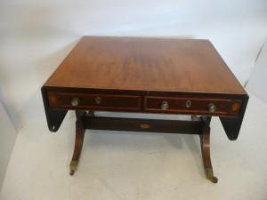 A Regency sofa table.