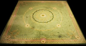 A lime green Donegal hand knotted carpet sold for 2,600.