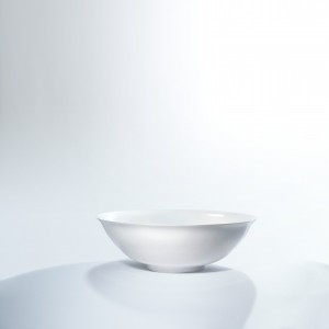 Echo - a white eggshell porcelain bowl