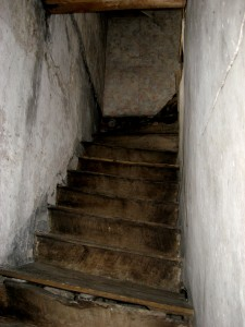 Staircase leading to the attic.  Courtesy Sir James Graham.