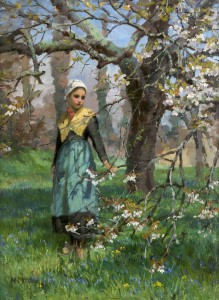 Maria Dorothy Webb (1850-1900) - Girl in an Orchard