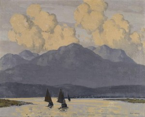 "Paul Henry - The Fishing Fleet, Co. Galway - 16"" x 20"" (£80,000-120,000)."