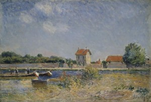 Alfred Sisley (1839-1899) The Banks of the Canal du Loing at Saint-Mammès, 1888 Photo © National Gallery of Ireland